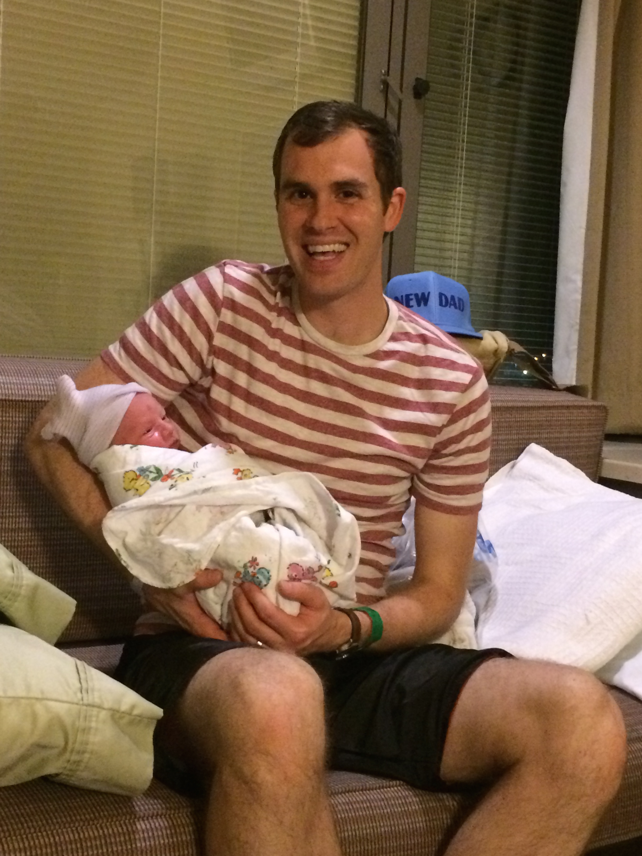 Micah Holding Denver After Birth