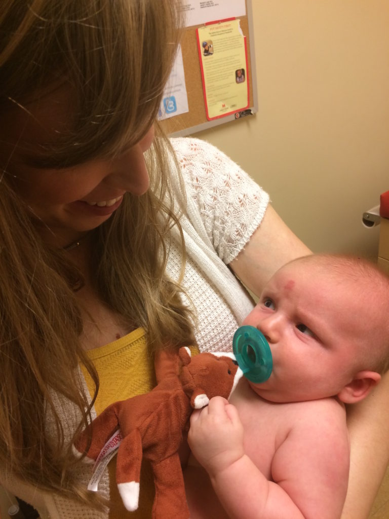 Grumpy face at pediatrician